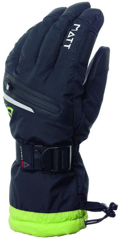 Černo-zelené pánské lyžařské rukavice Matt