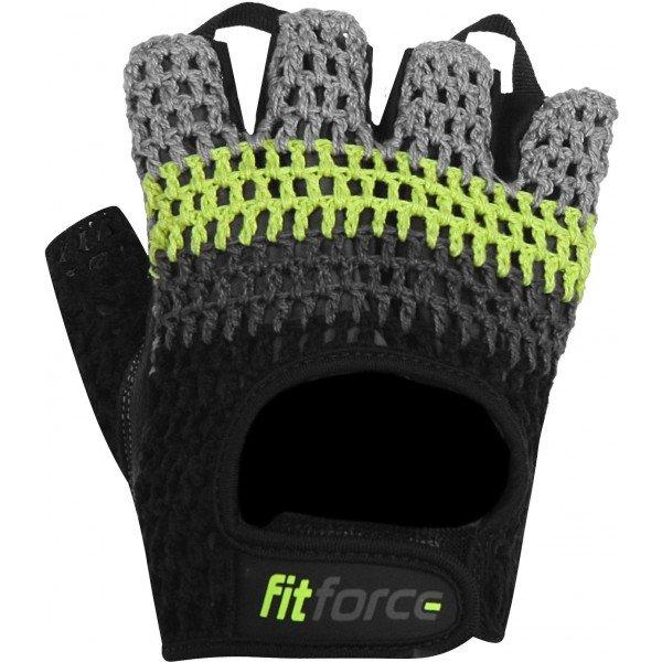 Černo-šedé pánské fitness rukavice Fitforce