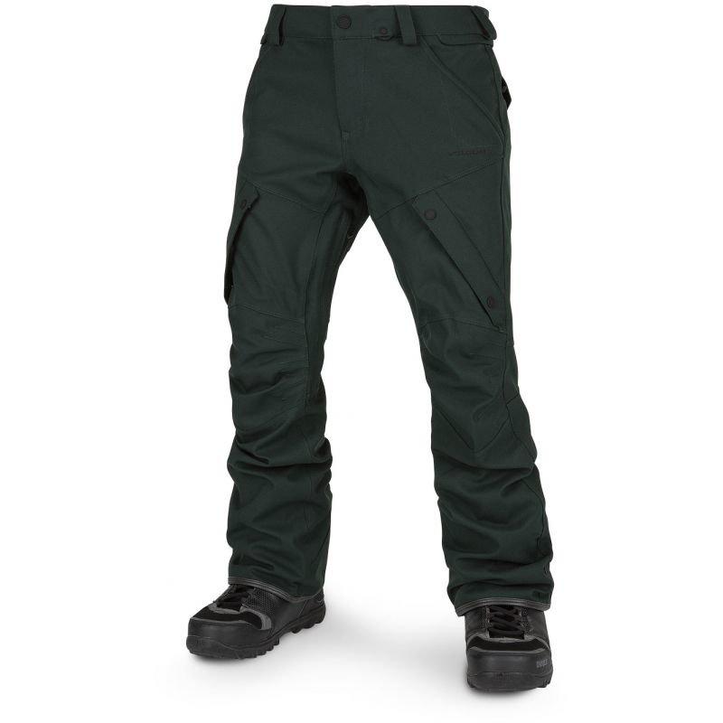 Zelené pánské snowboardové kalhoty Volcom