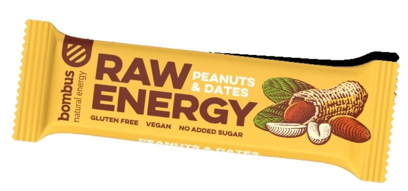 Energetická tyčinka - Bombus RAW Energy peanuts & dates 50 g