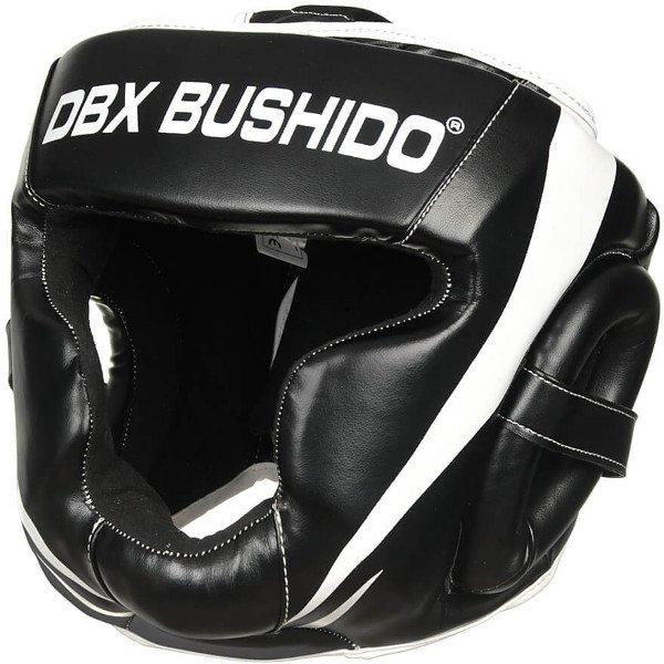 Bílo-černá boxerská přilba Bushido - velikost L
