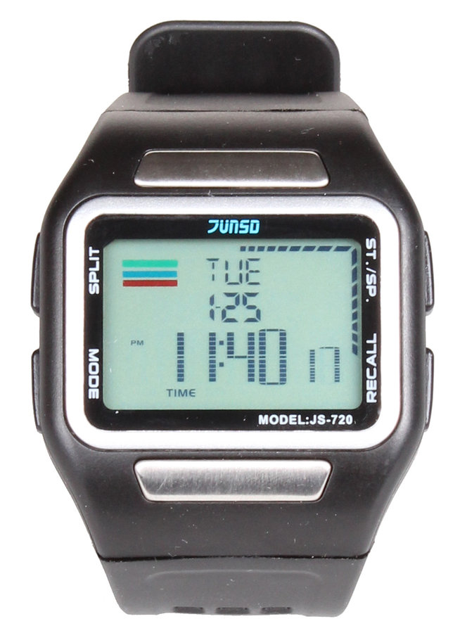 Černé digitální hodinky Junsd