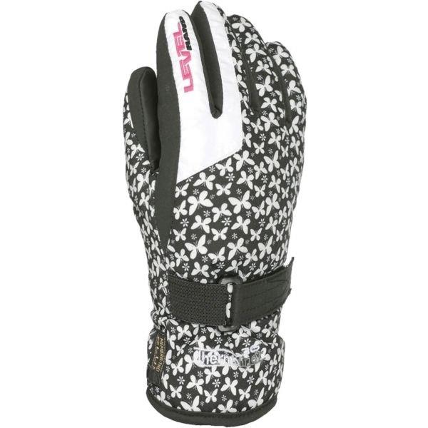 Bílé dětské zimní rukavice Level