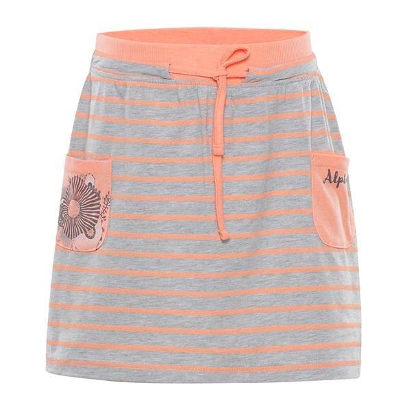 Oranžovo-šedá dívčí sukně Alpine Pro - velikost 116-122