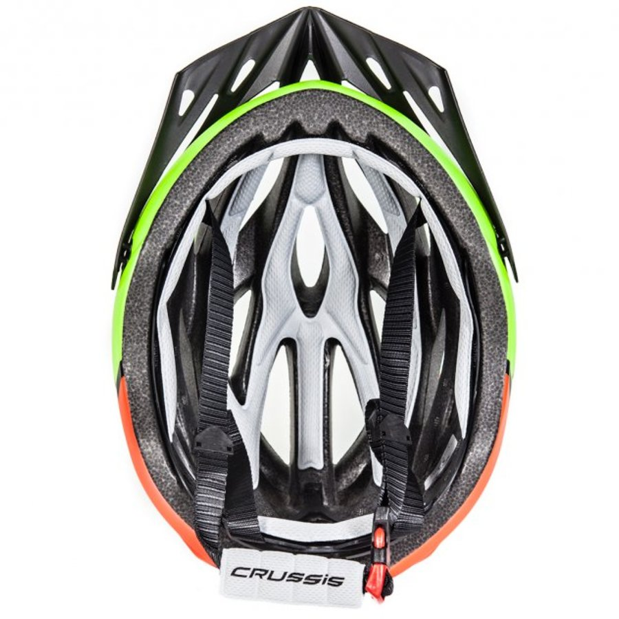 Žlutá cyklistická helma Crussis - velikost 58-62 cm