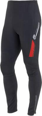 Červené dlouhé zimní pánské cyklistické kalhoty bez vložky Sensor - velikost S