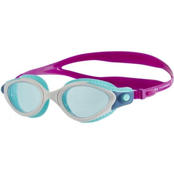 Modro-růžové závodní dámské plavecké brýle Speedo