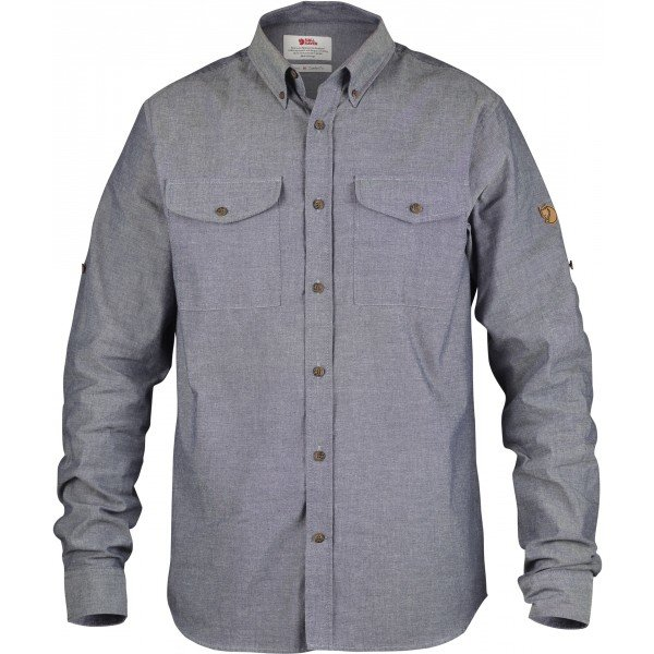 Šedá pánská košile s dlouhým rukávem Fjällräven - velikost L
