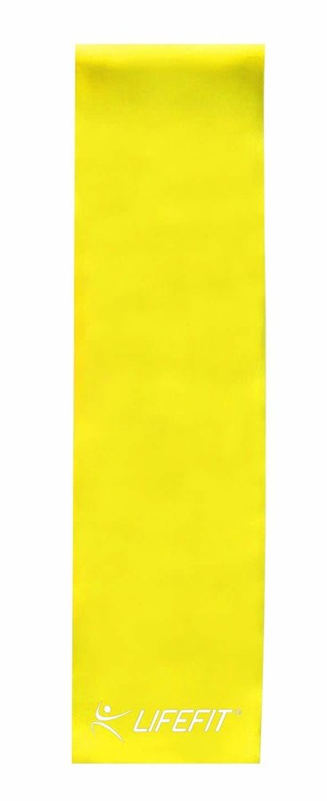 Posilovací guma - Posilovací guma LIFEFIT FLEXBAND 0,45, žlutá