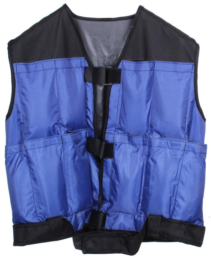 Černo-modrá zátěžová vesta Merco - 10 kg