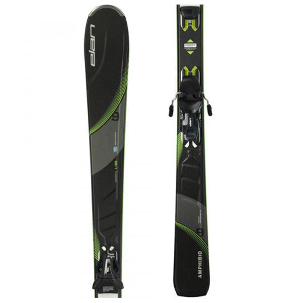 Šedé lyže s vázáním Elan - délka 176 cm