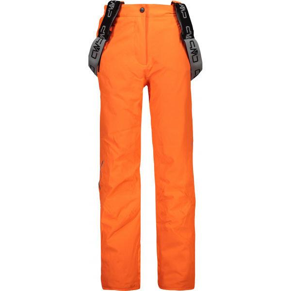 Oranžové dívčí lyžařské kalhoty CMP