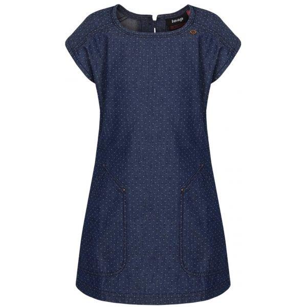 Modré dívčí šaty Loap - velikost 122