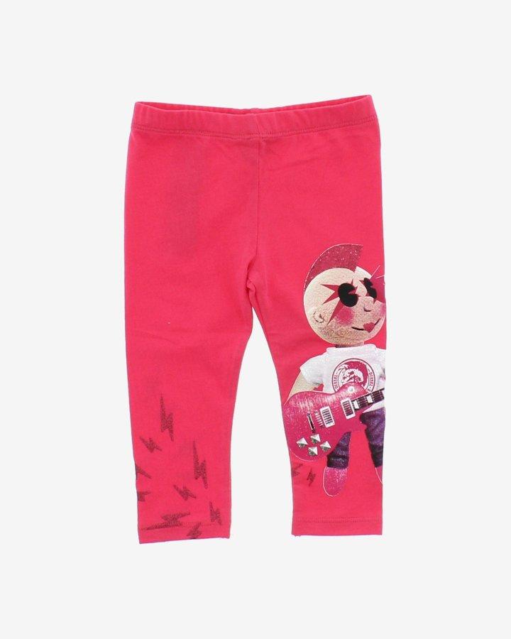 Růžové dětské dívčí legíny Diesel - velikost 68