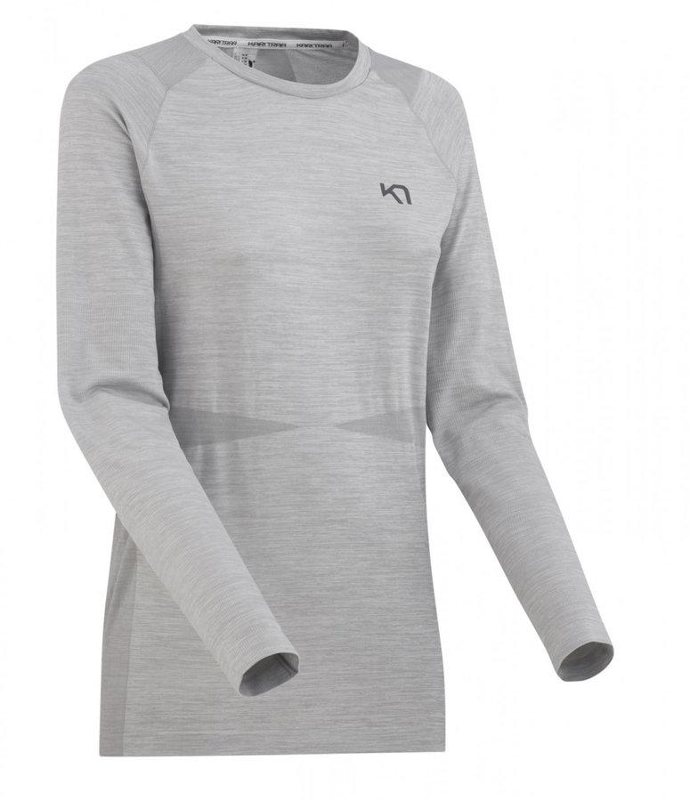 Šedé dámské funkční tričko s dlouhým rukávem Kari Traa - velikost L
