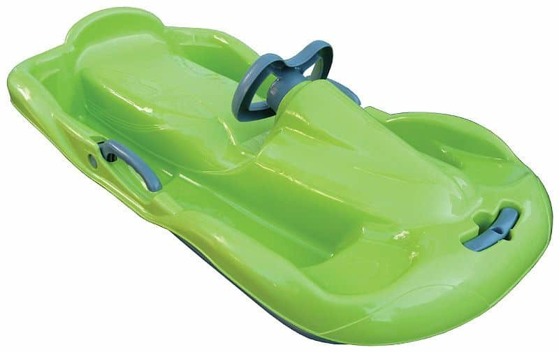 Zelené dětské boby s volantem Sulov