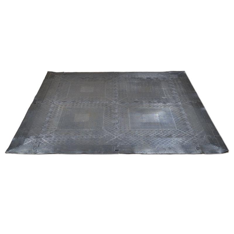 Černá zátěžová podložka Master - délka 140 cm, šířka 140 cm a tloušťka 0,6 cm