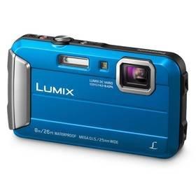 Modrý outdoorový fotoaparát Lumix DMC-FT30EP-A, Panasonic