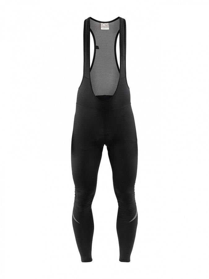 Dlouhé dámské cyklistické kalhoty se šlemi s vložkou Craft - velikost M