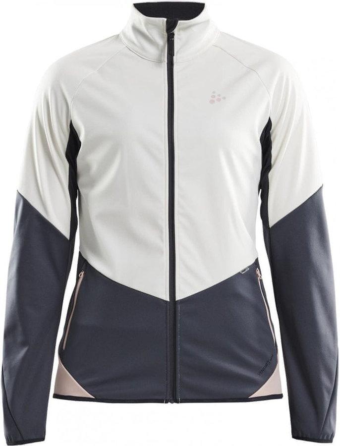 Bílo-šedá dámská bunda na běžky Craft