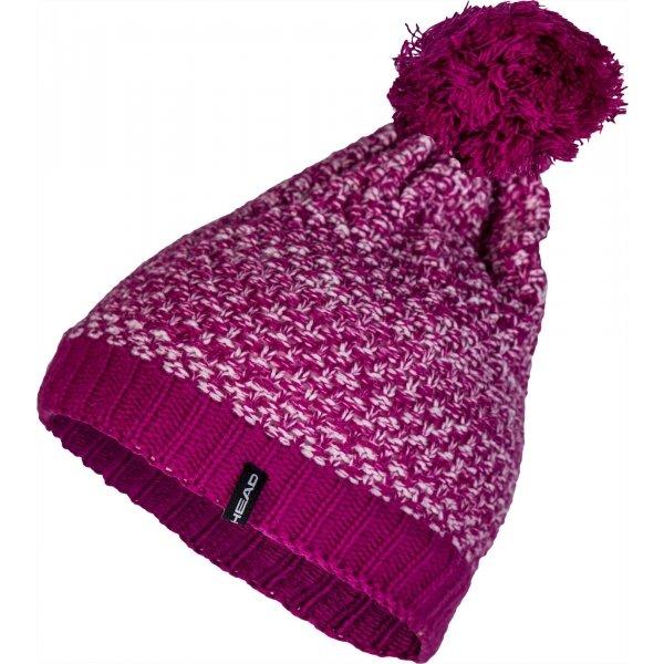 Růžová dámská zimní čepice Head - univerzální velikost