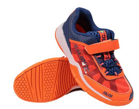 Modro-oranžová dětská sálová obuv Falco, Salming