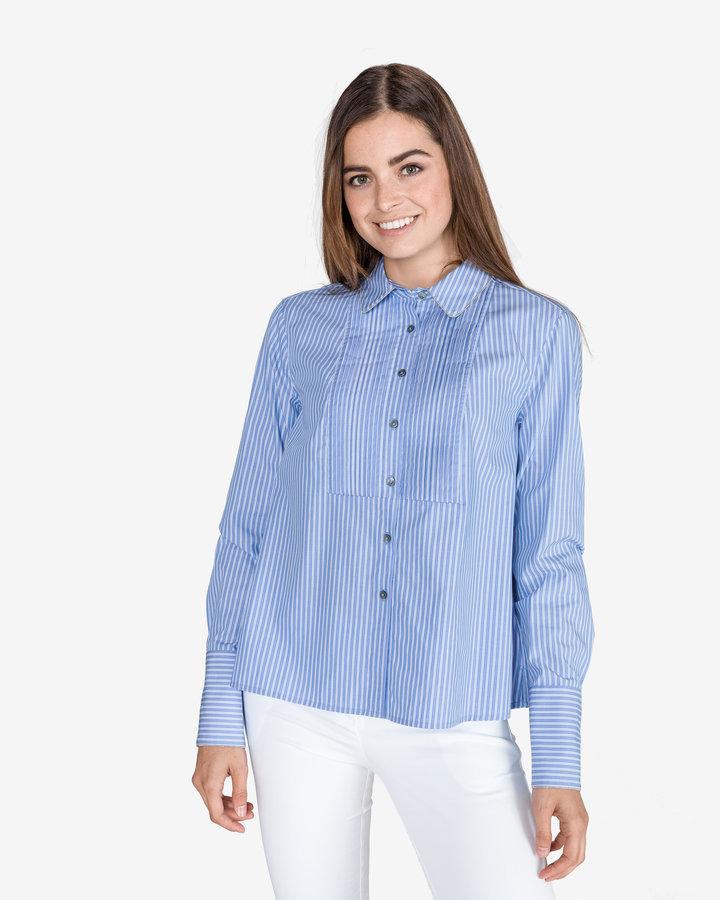 Modrá dámská košile s dlouhým rukávem Tommy Hilfiger - velikost L
