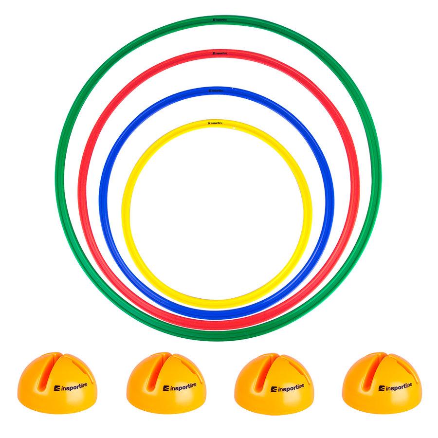 Gymnastický kruh - Sada stojanů a obručí inSPORTline Hulaho 40-70 cm
