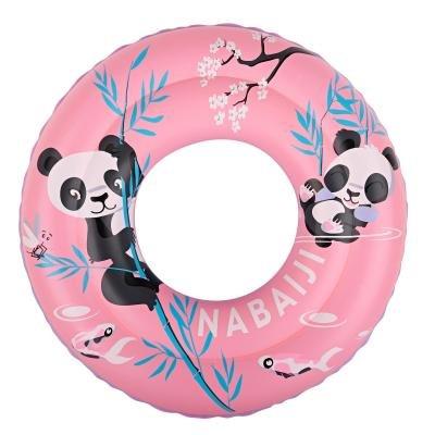 Růžový dětský nafukovací kruh