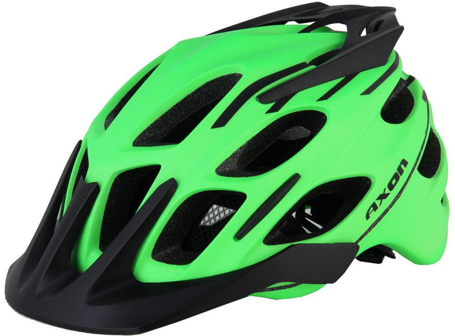 Černo-zelená cyklistická helma Axon - velikost 58-60 cm
