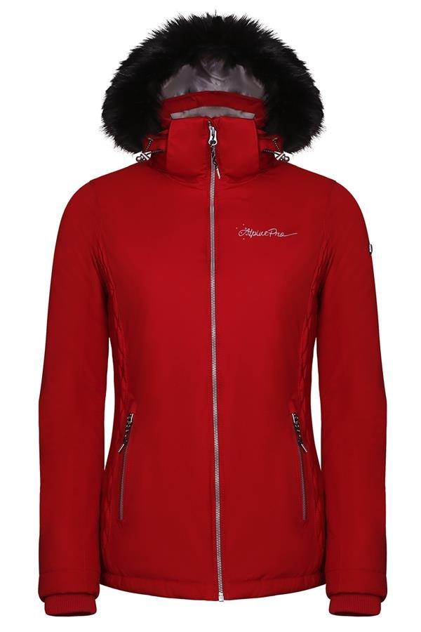 Oranžová zimní dámská bunda s kapucí Alpine Pro