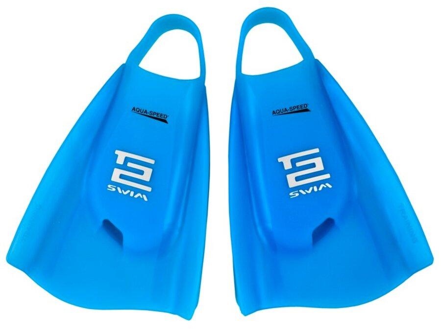 Modré plavecké krátké ploutve Tech2, Aqua-Speed - velikost 36-37 EU
