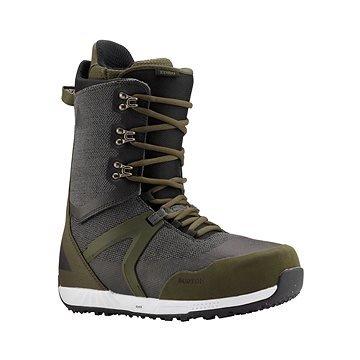 Černo-zelené pánské boty na snowboard Burton - velikost 45 EU