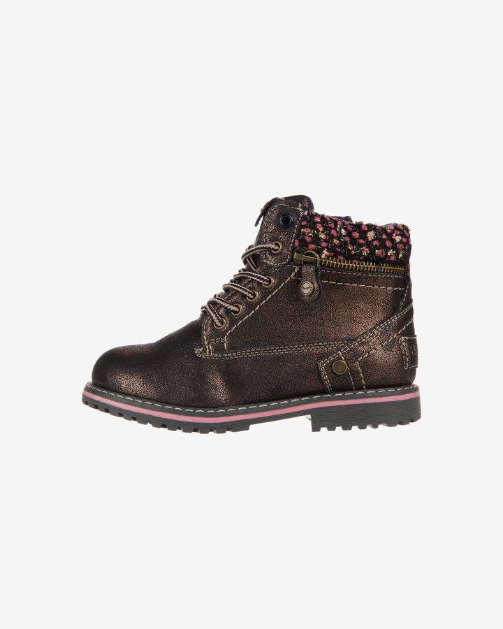 Černé dětské dívčí kotníkové boty Wrangler - velikost 31 EU