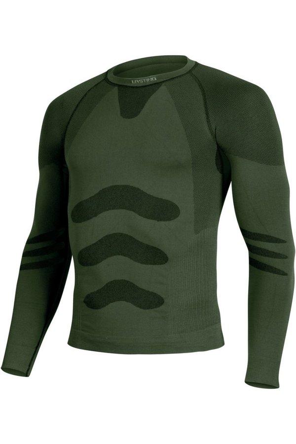 Zelené pánské termo tričko s dlouhým rukávem Lasting