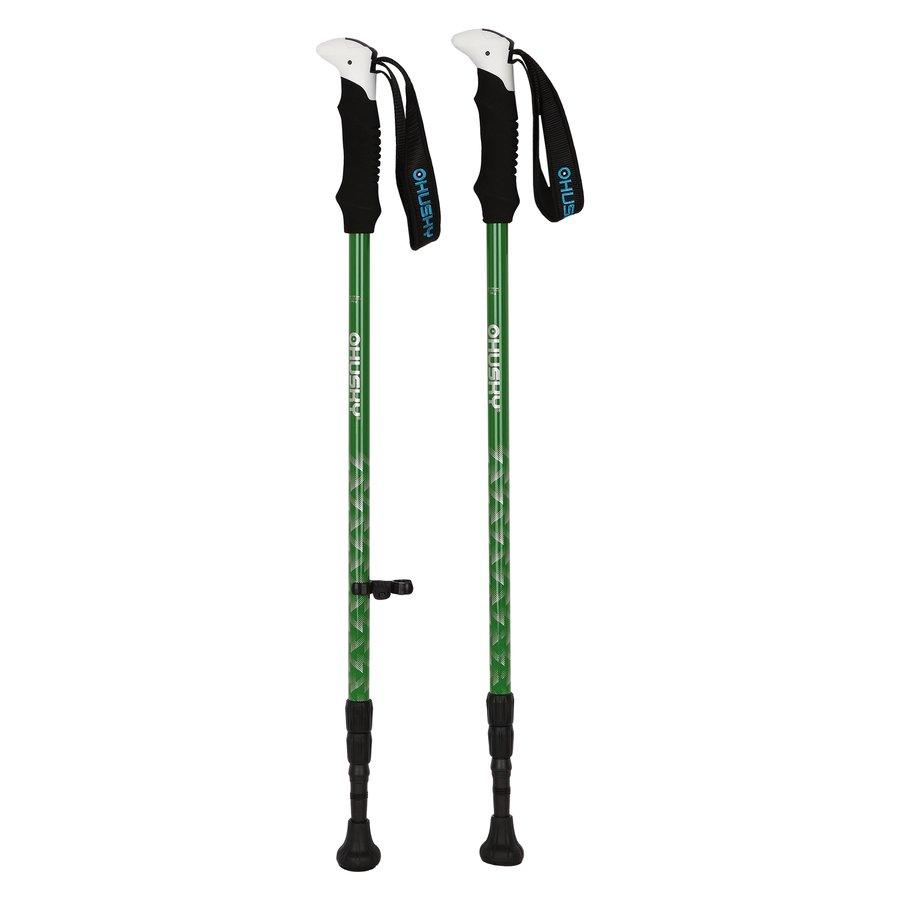 Zelená trekingová hůl STEEPLE, Husky - délka 135 cm