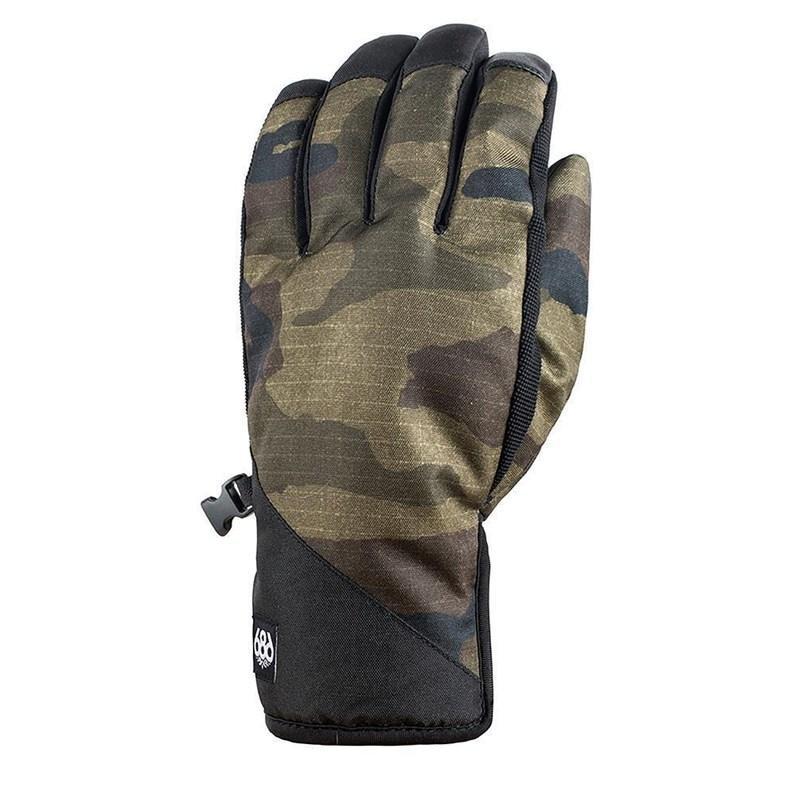 Maskáčové pánské lyžařské rukavice 686 - velikost L