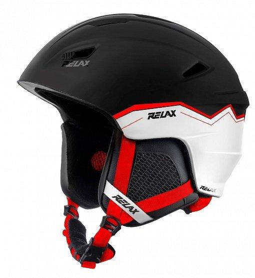 Bílo-černá lyžařská helma Relax