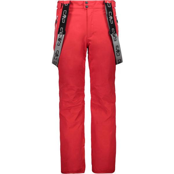 Červené pánské lyžařské kalhoty CMP