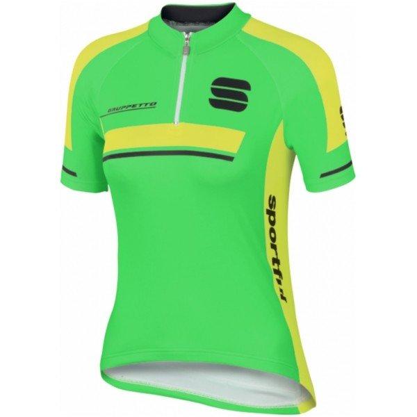 Zelený dětský cyklistický dres Sportful