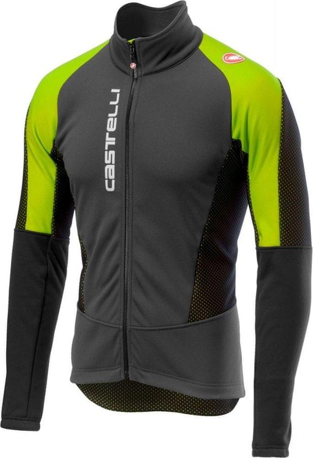 Černo-zelená pánská cyklistická bunda Castelli