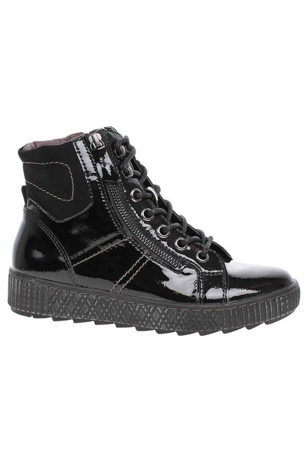 Černé dámské kotníkové boty Jana - velikost 39 EU