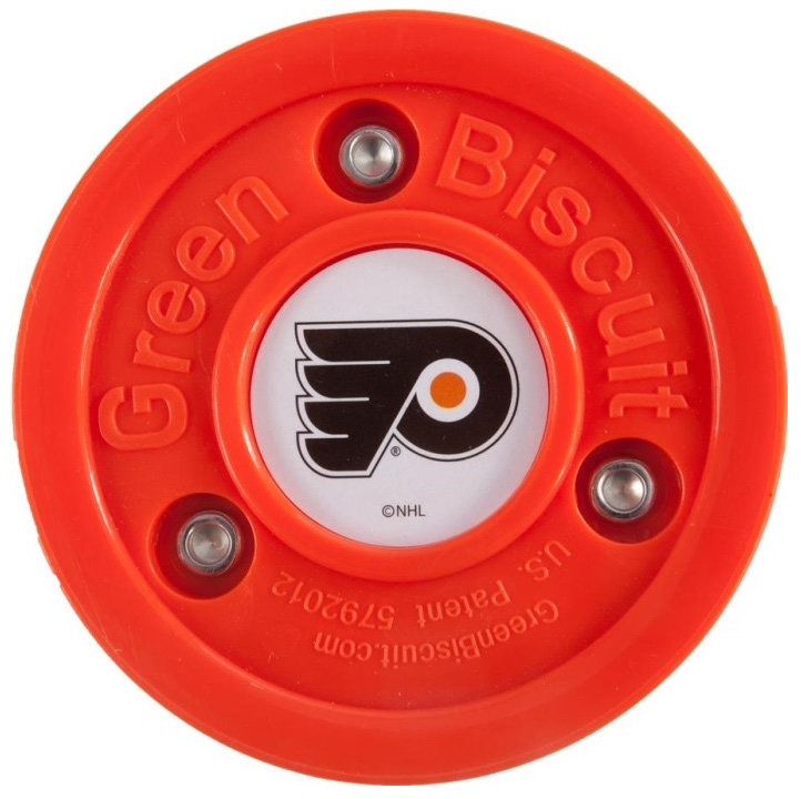 Oranžový hokejový puk off - ice Philadelphia Flyers, Green Biscuit