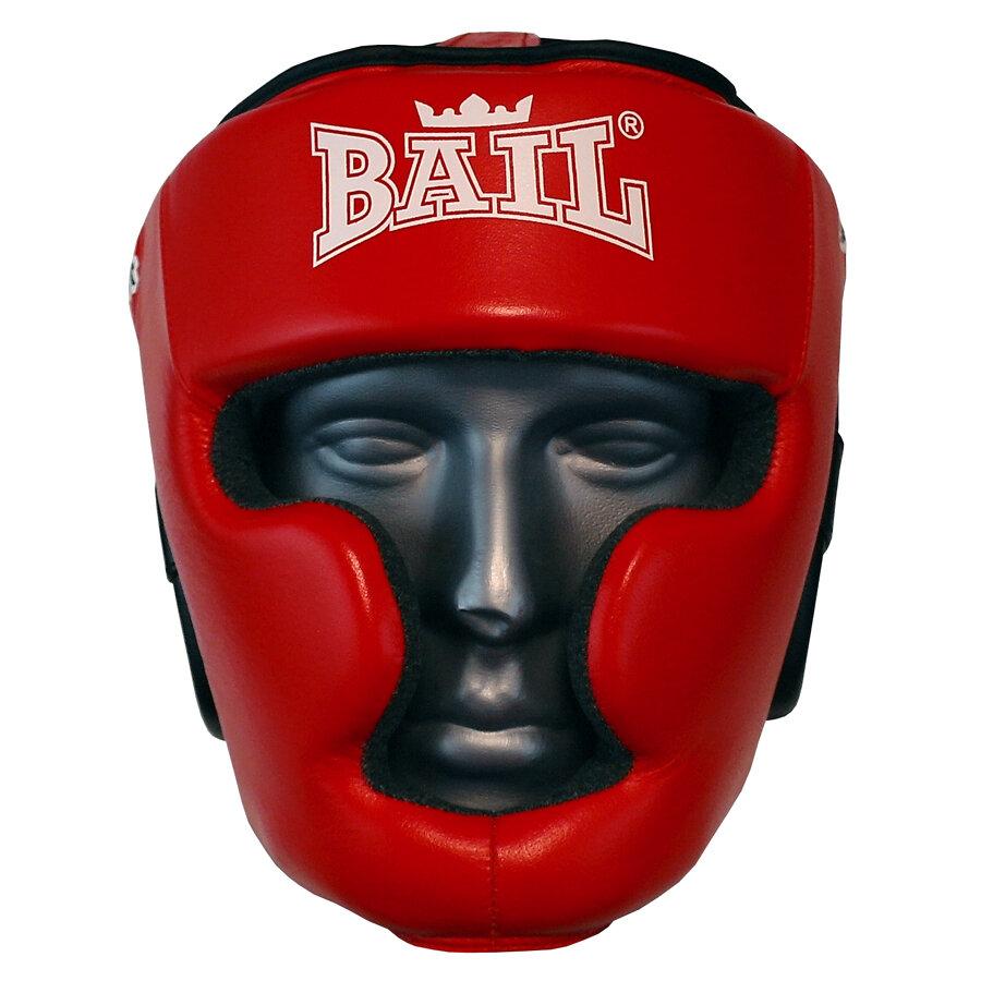 Červená boxerská přilba Bail - velikost S