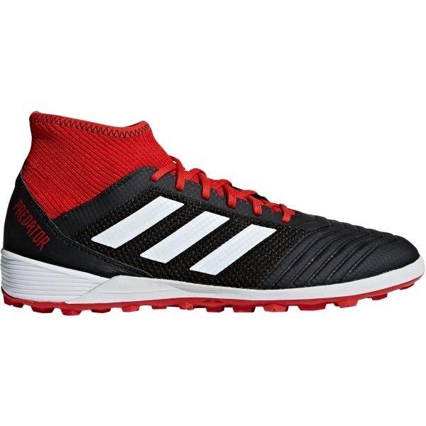 Černo-červené pánské kopačky turfy Adidas