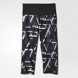 Černé 3/4 dámské legíny Adidas - velikost M