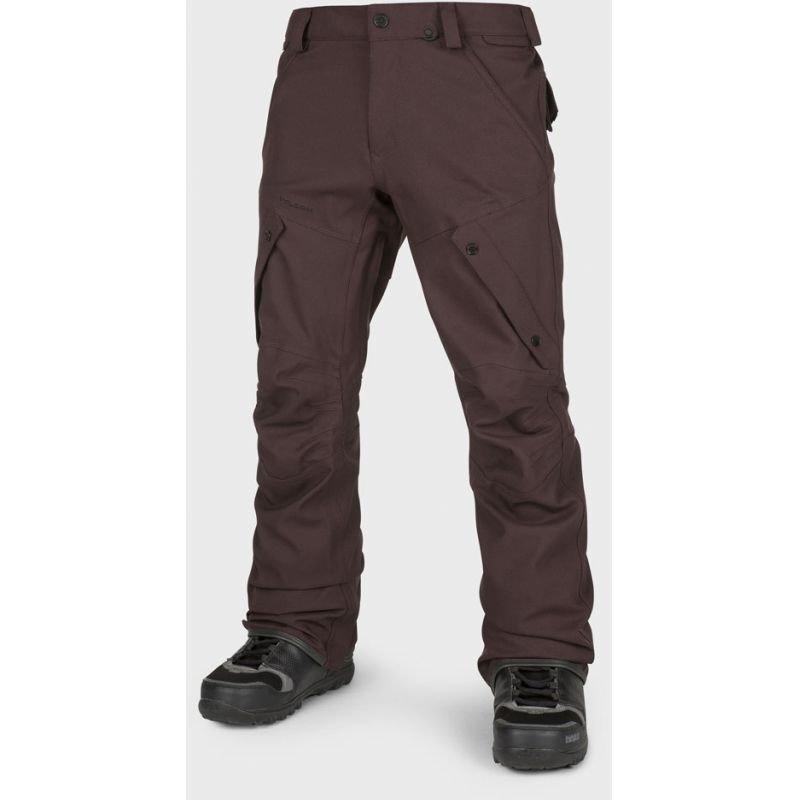 Hnědé pánské snowboardové kalhoty Volcom - velikost L