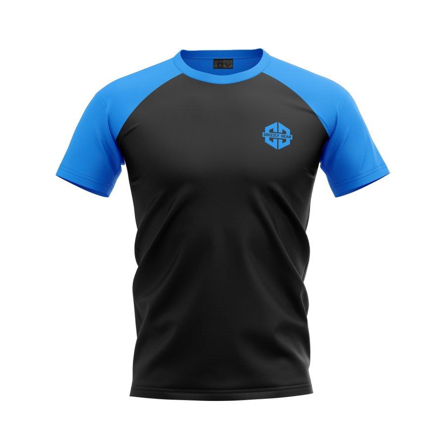 Černo-modré pánské tričko s krátkým rukávem Grizzly Gear