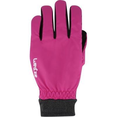 Růžové lyžařské rukavice WED'ZE