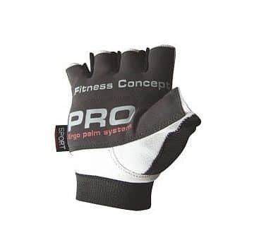 Bílo-černé fitness rukavice Power System - velikost M